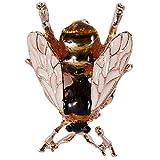 TOOGOO Cute Bee Broche de Insecto Mosca Accesorios de Ropa Broche de Esmalte