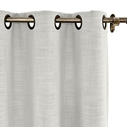 cololeaf Linen Blend Curtain Liz Collection, Custom Curtain Drapery Linen Curtains Panel, Pinch Pleated, Grommet, Tab Top Header and Size Custom-Made Lined and Unlined Window Curtains