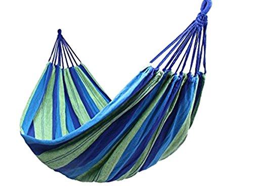 PICCOLI MONELLI Amaca da Campeggio o da Giardino in Tessuto Cotone Brasiliano Misura 180 * 80 cm Colore Verde Multicolor