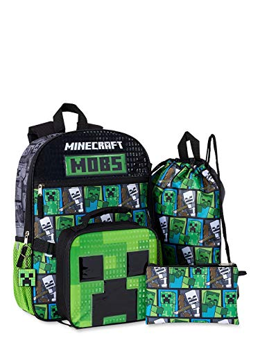 Minecraft 5-Piece Backpack Set, No Color, Size No Size