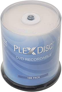 PlexDisc DVD-R 4.7GB 16x Recordable Media Disc - 100 Disc Spindle (FFP)