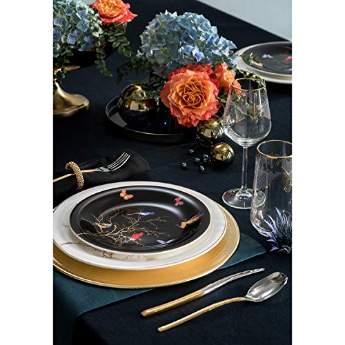 Karaca Fine Pearl Grace Black - Vajilla (62 piezas, para 12 personas), color negro