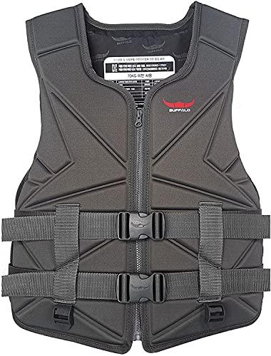 Chaqueta de neopreno de vida para hombre y mujer, chaqueta de vida, chaleco de pesca, surf, chaleco de natación, color negro-M (color: negro, talla: XL)