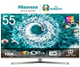 HISENSE H55U8BE TV LED Ultra HD 4K, Dolby Vision HDR 1000, Dolby Atmos, Unibody Design, Smart TV VIDAA U3.0 AI, Ultra Dimming, Triple Tuner