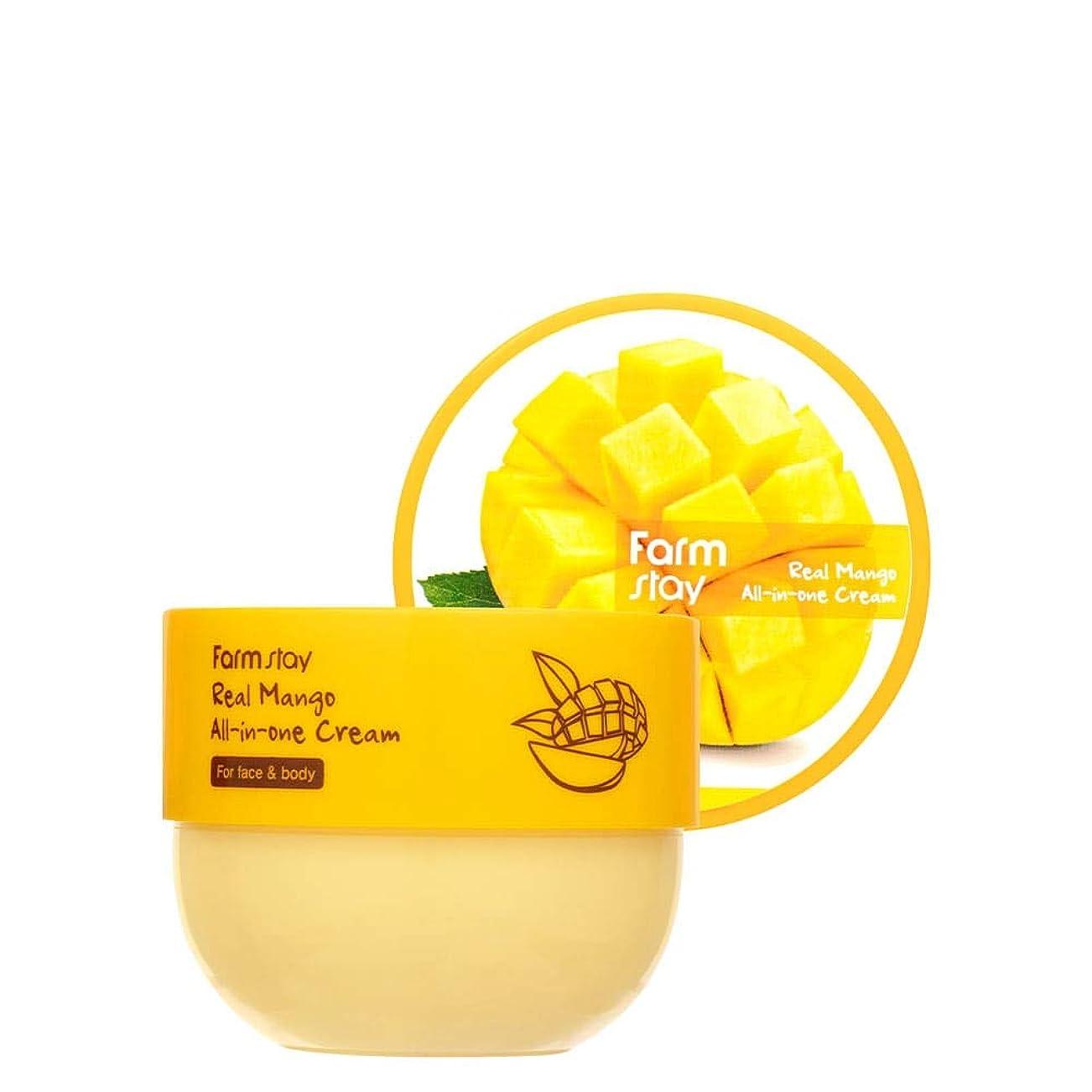 懲戒犯罪香りファームステイ[Farm Stay] リアルマンゴーオールインワンクリーム 300ml / Real Mango All-in-One Cream
