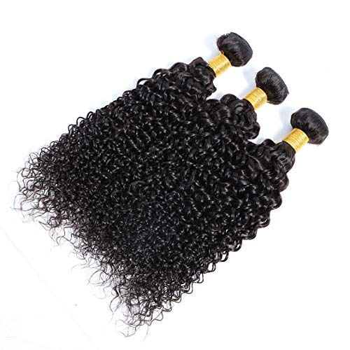 "Selina Brazilian Curly Hair Bundles 3 Bundles Kinky Curly Unprocessed Remy Hair Extensions Brazilian Virgin Human Hair 100 Gram/Bundle (18""18""18"", Natural Color)"