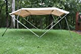 Vortex New Beige/Tan Pontoon/Deck Boat 4 Bow Bimini Top 10' Long, 97-103' Wide, 54' High, Complete Kit, Frame, Canopy, and Hardware 1 to 4 Business Day DELIVERY