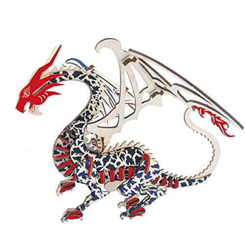 3d Chinese Dragon Model Kit Laser Cutting Animal Model Kit Children Make Their Own Jigsaw Craft When Children Over 7 Years Old Educational Toys
