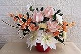 Centro de mesa con flores de papel crepé - centro de mesa atemporal - centro de mesa para boda
