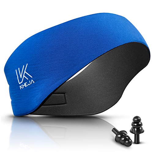 KHEJA Jelleo Swimming Headband with Free Swimming Earplugs - Blue Medium