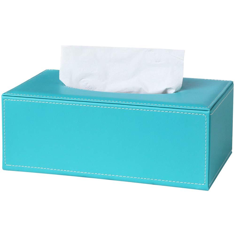 GORESE - Funda rectangular de piel para caja de pañuelos: Amazon.es: Hogar