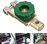 QuickBattery Disconnect Switch, Car Battery Isolator Switch, Top Post Battery Terminal Link Switch for Marine Boat Small Yacht RV Camper Auto Truck Vehicle with Green Knob