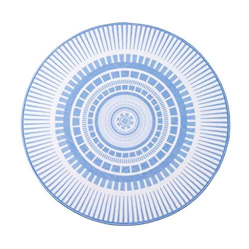 Wohnzimmer runde Teppich Schlafzimmer Teppich kinderzimmer Teppich Studie Teppich Tatami mat Slip mat Prinzessin Zimmer Teppich Geschenk (Color : Blue, Size : D:120CM)