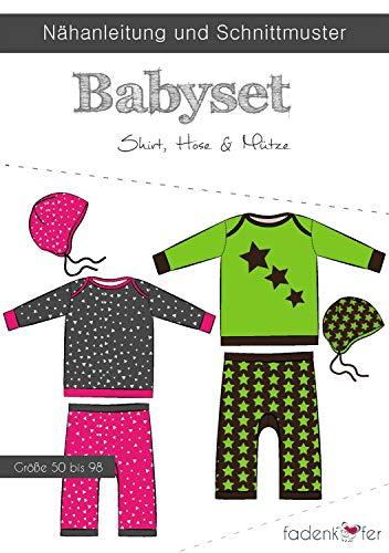 Papierschnittmuster Babyset - nähen für Babys und Kleinkinder - Shirt Pumphose Mütze - Größe 50-98