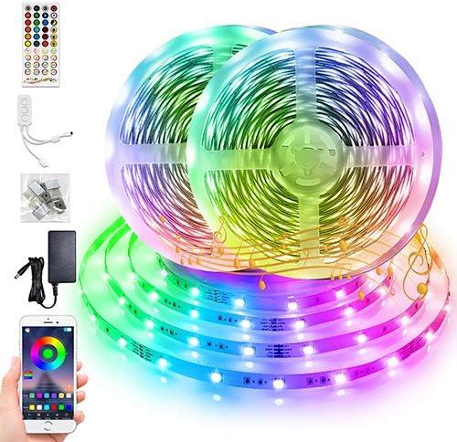 65 6ft LED Strip Lights BFULL RGB 5050 LED Strips with 40 Keys Remote Bluetooth Controller 12V product image