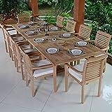 Salon de Jardin Teck Ecograde Mahina, 10 fauteuils