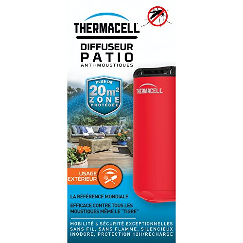 Diffuseur Anti-Moustiques Thermacell PATIO Rouge, Bleu, Vert + Recharge 12H protection INCLUSE