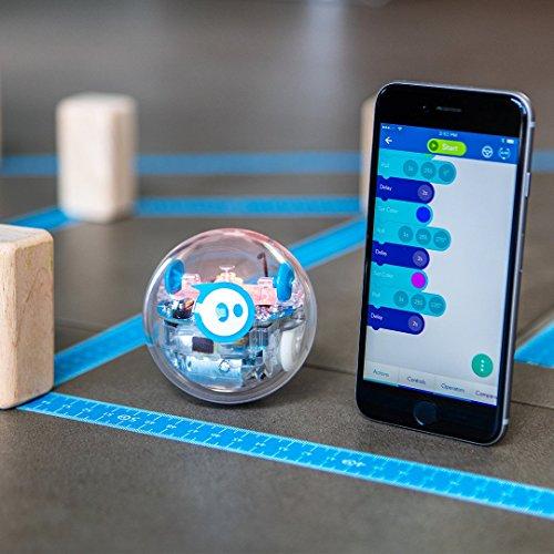 Sphero SPRK+: App-Enabled Robot Ball with Programmable Sensors + LED Lights - STEM Educational Toy for Kids - Learn JavaScript, Scratch & Swift