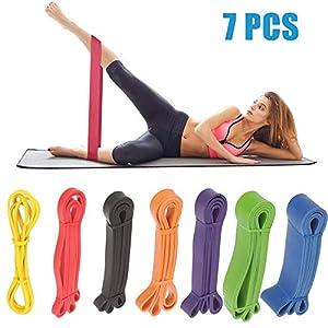 YIHGJJYP 6 Mejora Modelo Bandas de Resistencia de Bucle de Gran Alcance para el Ejercicio eficaz de Deportes de Fitness Gimnasio en casa Yoga Equipo de Entrenamiento Expander