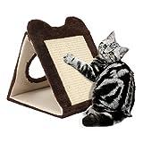 Achort Rascadores para Gatos, tapete Triangular de sisal Resistente, Tablero rascador para Gatos con múltiples ángulos
