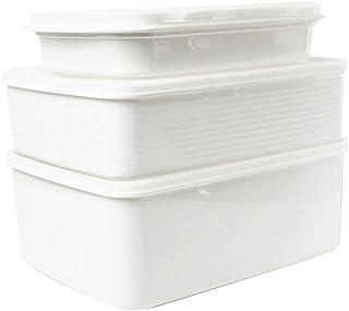 WWJHH-Food storage box BoîTe De Rangement De Cuisine RéCipient De Nourriture- 3 Sets - Bac à LéGumes Rectangulaire - Joint...