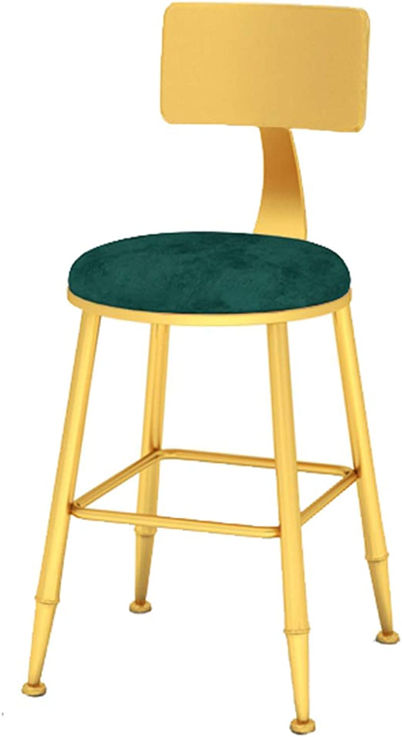 With Backrest Bar Stools Upholstered Barstools Round High Stools Modern Dining Chairs Minimalist Bar Chairs for Breakfast Pub Counter Kitchen Home Indoor Cafe