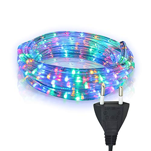 Hengda LED Lichtschlauch, Bunt Lichterschlauch mit 240 LEDs, 10m Wasserdicht Lichterkette Farbwechsel, für Innen Außen Balkon Hochzeit Weihnachtsbaum