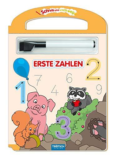 Trötsch Erste Zahlen Schreib und wisch weg mit Stift: Übungsheft Lernheft Vorschule Grundschule (Schreib und Wisch Weg Lernhefte)