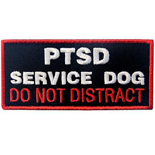 Service Dog Patch Vests/Harnesses PTSD Do Not Distract Applique Embroidered Fastener Hook & Loop Emblem
