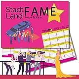 Stadt Land Fame Promi Edition | Stadt-Land-Fluss Partyspiel 50 Blatt | Ab 16 Jahren | Weihnachtsgeschenk, Wichtelgeschenk | Trinkspiel Quiz Spieleabend