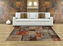 Aido , Alfombra –Marron 160 x 230 - Alfombra salón – alfombras – Alfombra Cocina – alfombras de habitación.