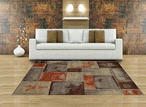 Aido , Alfombra –Infiniti Marron 190 x 280 - Alfombra salón – alfombras – Alfombra Cocina – alfombras de habitación.