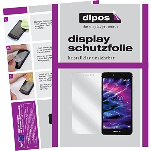 dipos I 2X Schutzfolie klar kompatibel mit Medion Life X5020 Folie Bildschirmschutzfolie