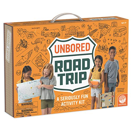 MindWare Unbored Activity Kits: Road Trip Survival kit - Seriously Fun Activity-Packed Box with...