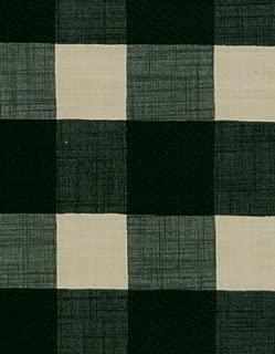 Large Plaid Linen Series 9815 Hunter Green Vinyl Tablecloth 54