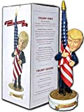 Donald Trump Bobblehead | (Trump Holding American Flag - Cloth Flag Included)…