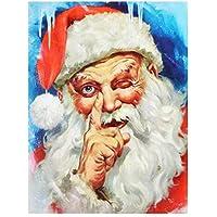 Paint by Numbers DIY アクリル絵画 ホーム オフィス装飾 油絵 数字キット塗り絵 手塗り サンタクロース-16インチ x 20インチ ブ(フレームレス)
