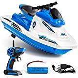 Force1 Wave Speeder RC Boat - Remote Control Boat for Pool and Lake, Long Range Radio Controlled Motor Boat with Waverunner Boat Battery, USB Charging Cable, and 2.4GHz Remote Control (Blue)