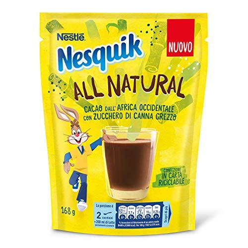 Nesquik All Natural Cacao Solubile per Latte, 8 Confezioni da 168 g