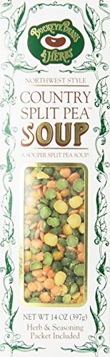 Country Split Pea Soup - Dry Soup Mix - Buckeye Beans & Herbs 14oz (Pack of 6)