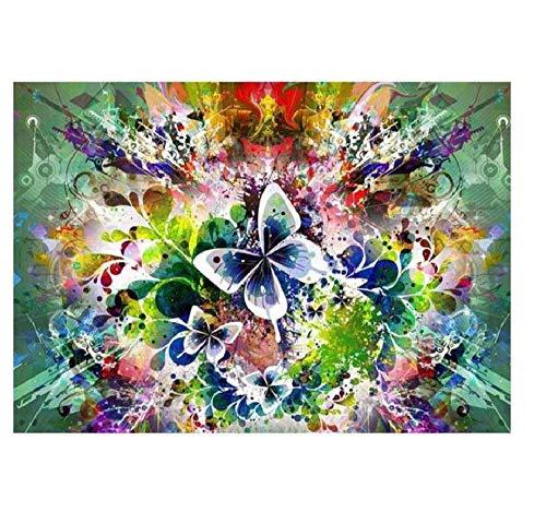 MOY78NWZH Malen nach Zahlen mit DIY Leinwand Gemälde für Erwachsene und Kinder, Enthält Acrylfarben und 3 Pinsel - Schön Aber terfly (Ohne Rahmen) 40 x 50cm