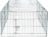Trixie Natura Enclos avec Couverture Galvanisé pour Lapin, 216 × 65 × 116 cm