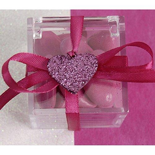 Fetez-Moi 12 Coeurs Paillette Rose Fuschia