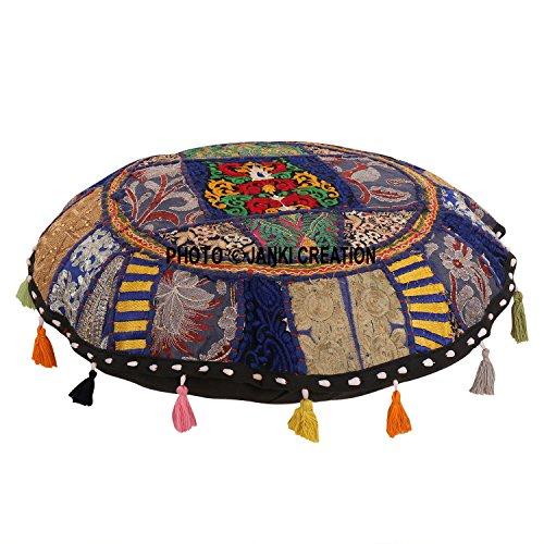 Wunderschöne Dekorative Ruond osmanischen Patchwork Pouf, traditionelle indische Home Dekorative indische Handarbeit Baumwolle Vintage Pouf 16 indischen Kissen Set