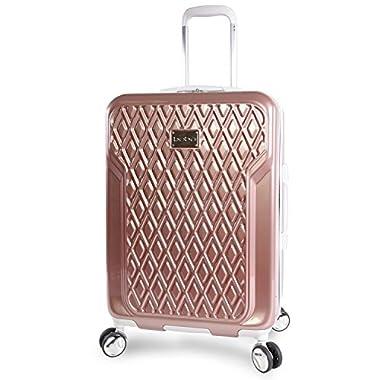 BEBE Women's Stella 21  Hardside Carry-on Spinner Luggage, Rose Gold