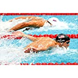 ZHINING Leinwand Poster Michael Phelps Schwimmen Sport