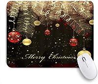 ZOMOY マウスパッド 個性的 おしゃれ 柔軟 かわいい ゴム製裏面 ゲーミングマウスパッド PC ノートパソコン オフィス用 デスクマット 滑り止め 耐久性が良い おもしろいパターン (メリークリスマスダイヤモンドスワールモチーフボールリボンハンギングパイン小枝明けましておめでとう)