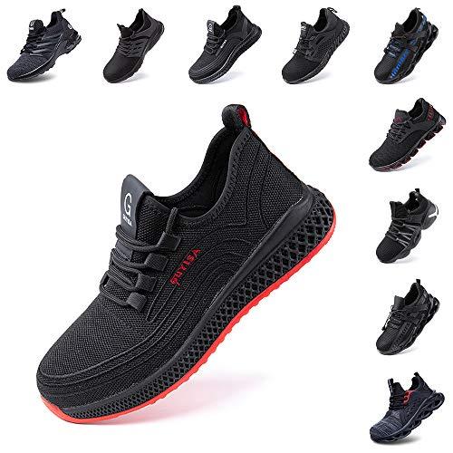 Zapatos de Seguridad Hombre Trabajo Comodos Mujer con Punta de Acero Ligeros...