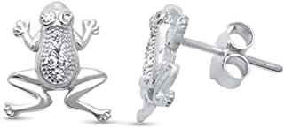 Best frog earrings sterling silver Reviews