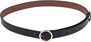 Lovoski Women Ladies Waistband PU Leather Thin Skinny Belt Buckle Waist Belt